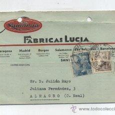Sellos: CARTA CON MEMBRETE DE MADRID A ALMAGRO. FRANQUEADO Y FECHADO EN 1950.. Lote 27770699