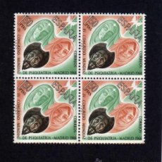 Sellos: IV CONGRESO MUNDIAL DE PSIQUIATRIA - EDIFIL 1746 - BLOQUE DE CUATRO. . Lote 108907475