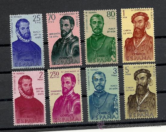 ESPAÑA 1960, EDIFIL Nº 1298/1305**, FORJADORES. (Sellos - España - II Centenario De 1.950 a 1.975 - Nuevos)