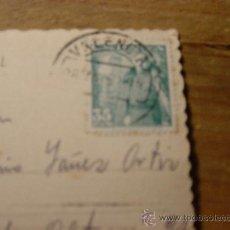 Sellos: SELLO DE 35 CENTIMOS EN TARJETA POSTAL DE VALENCIA. PLAZA DEL CAUDILLO Y C/ SAN VICENTE. Lote 29339611