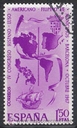 EDIFIL 1818, CONGRESO HISPANOAMERICANO DE MUNICIPIOS, USADO (Sellos - España - II Centenario De 1.950 a 1.975 - Usados)