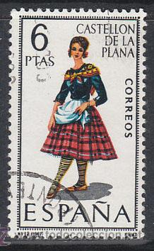 EDIFIL 1778, TRAJE REGIONAL DE CASTELLÓN, USADO (Sellos - España - II Centenario De 1.950 a 1.975 - Usados)