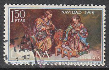 EDIFIL 1764, NAVIDAD 1966, USADO (Sellos - España - II Centenario De 1.950 a 1.975 - Usados)