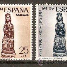 Sellos: ESPAÑA NUM. 1615/6 RECONQUISTA DE JEREZ SERIE COMPLETA NUEVA SIN FIJASELLOS. Lote 194262503