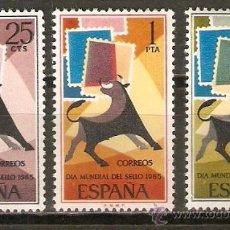 Sellos: ESPAÑA NUM. 1667/9 DIA DEL SELLO ** SERIE COMPLETA SIN FIJASELLOS. Lote 237167645