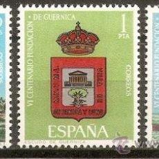 Sellos: ESPAÑA NUM. 1720/2 FUNDACION DE GUERNICA SERIE COMPLETA NUEVA SIN FIJASELLOS. Lote 194262438