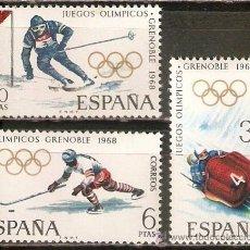 Sellos: ESPAÑA NUM. 1851/53 ** JUEGOS OLIMPICOS GRENOBLE SERIE COMPLETA NUEVA SIN FIJASELLOS. Lote 237166505