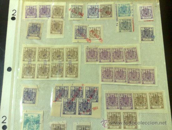 Sellos: CIRCA 1962-1964. HOJA CON 54 PÓLIZAS DIFERENTES DE LA ÉPOCA. - Foto 2 - 29870603