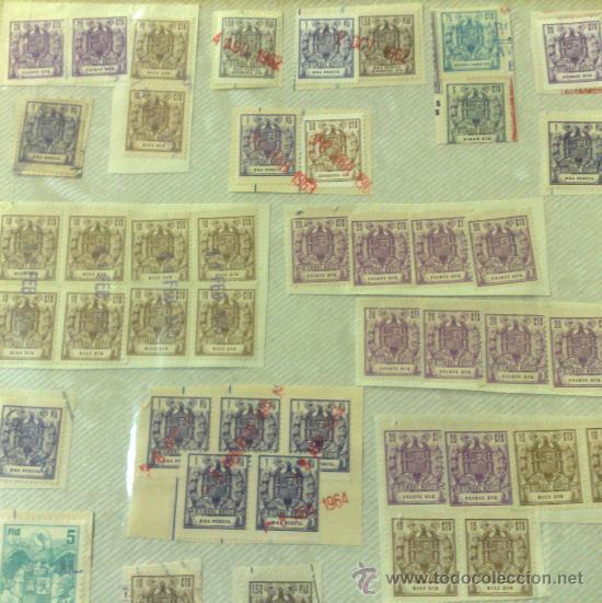 Sellos: CIRCA 1962-1964. HOJA CON 54 PÓLIZAS DIFERENTES DE LA ÉPOCA. - Foto 3 - 29870603