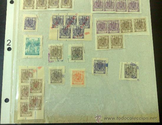 Sellos: CIRCA 1962-1964. HOJA CON 54 PÓLIZAS DIFERENTES DE LA ÉPOCA. - Foto 4 - 29870603