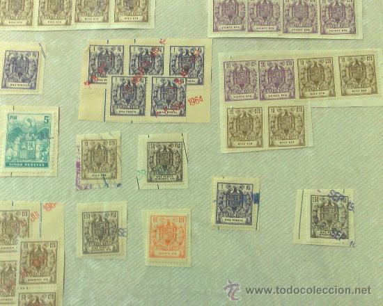 Sellos: CIRCA 1962-1964. HOJA CON 54 PÓLIZAS DIFERENTES DE LA ÉPOCA. - Foto 5 - 29870603