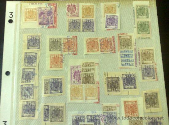 Sellos: CIRCA 1964-1965. HOJA CON 60 PÓLIZAS DIFERENTES DE LA ÉPOCA. - Foto 2 - 29870689