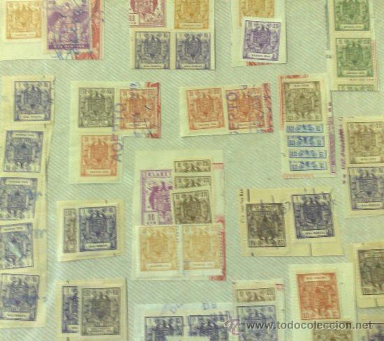 Sellos: CIRCA 1964-1965. HOJA CON 60 PÓLIZAS DIFERENTES DE LA ÉPOCA. - Foto 3 - 29870689