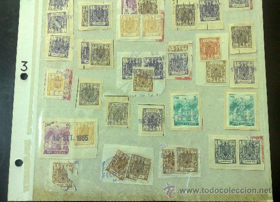 Sellos: CIRCA 1964-1965. HOJA CON 60 PÓLIZAS DIFERENTES DE LA ÉPOCA. - Foto 4 - 29870689