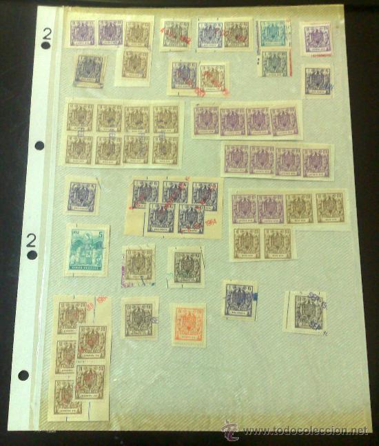 Sellos: CIRCA 1962-1964. HOJA CON 54 PÓLIZAS DIFERENTES DE LA ÉPOCA. - Foto 2 - 29870619