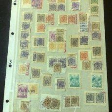 Sellos: CIRCA 1964-1965. HOJA CON 60 PÓLIZAS DIFERENTES DE LA ÉPOCA.. Lote 29870689