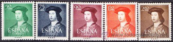ESPAÑA 1952 V CENTENARIO NACIMIENTO FERNANDO EL CATÓLICO EDIFIL 1106/10 NUEVO ** (Sellos - España - II Centenario De 1.950 a 1.975 - Nuevos)
