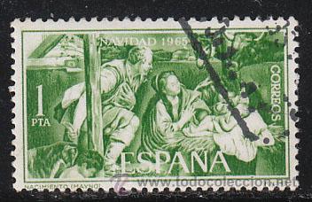 EDIFIL 1692, NAVIDAD 1965, USADO (Sellos - España - II Centenario De 1.950 a 1.975 - Usados)