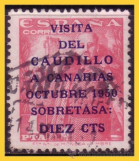 1950 VISITA DEL CAUDILLO A CANARIAS, EDIFIL Nº 1089 (O) (Sellos - España - II Centenario De 1.950 a 1.975 - Usados)