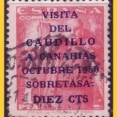 Sellos: 1950 VISITA DEL CAUDILLO A CANARIAS, EDIFIL Nº 1089 (O). Lote 30869249