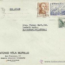 Sellos: CANARIAS TENERIFE CC CON SELLO FRANCO CID LA CIERVA . Lote 30958381
