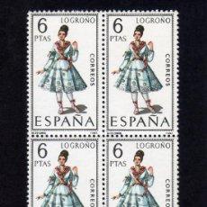Sellos: TRAJES REGIONALES - LOGROÑO - EDIFIL 1902 - BLOQUE DE CUATRO.. Lote 31121761