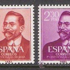 Timbres: ESPAÑA 1961 - I CENTENARIO NACIMIENTO DE VAZQUEZ DE MELLA - EDIFIL 1351/52**. Lote 31189748