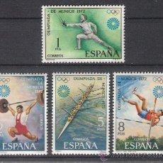 Sellos: ESPAÑA 1972 - JUEGOS OLÍMPICOS DE MUNICH - EDIFIL 2098 / 2101 ***. Lote 31189805