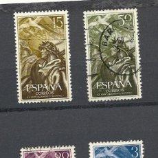 Sellos: ESPAÑA 1956, EDIFIL Nº 1187/1190, XX ANIVERSARIO DEL ALZAMIENTO NACIONAL. Lote 31903968
