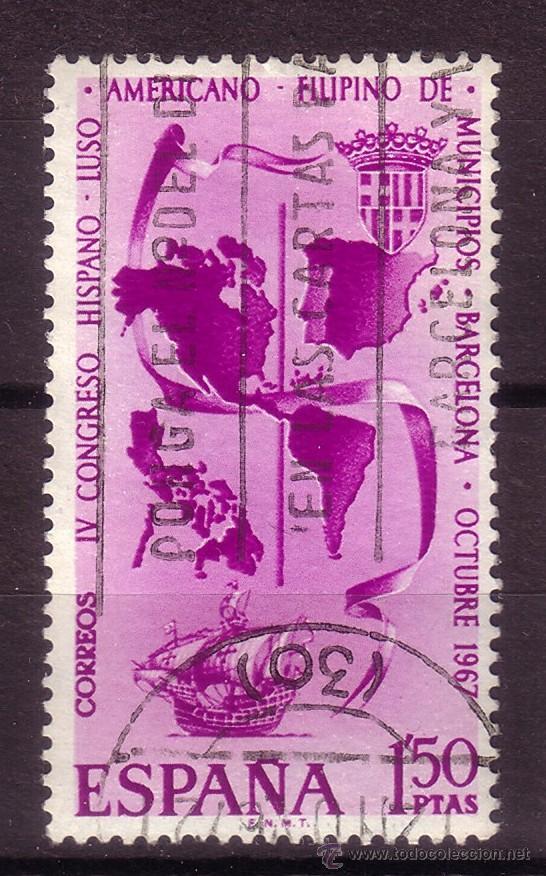ESPAÑA 1818 - AÑO 1967 - 4º CONGRESO HISPANO LUSO AMERICANO FILIPINO DE MUNICIPIOS - BARCOS (Sellos - España - II Centenario De 1.950 a 1.975 - Usados)