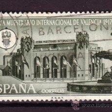 Sellos: ESPAÑA 1797 - AÑO 1967 - 50º ANIVERSARIO DE LA FERIA MUESTRARIO INTERNACIONAL DE VALENCIA. Lote 31989774