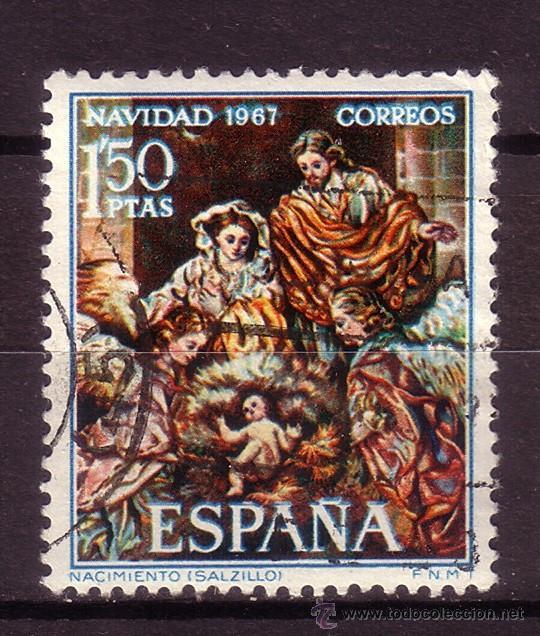 ESPAÑA 1838 - AÑO 1967 - NAVIDAD - ARTE - SALZILLO (Sellos - España - II Centenario De 1.950 a 1.975 - Usados)