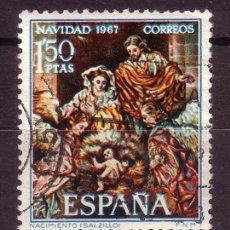 Sellos: ESPAÑA 1838 - AÑO 1967 - NAVIDAD - ARTE - SALZILLO. Lote 31989779