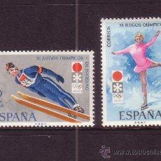 Sellos: ESPAÑA 2074/75** - AÑO 1972 - JUEGOS OLIMPICOS DE INVIERNO DE SAPPORO. Lote 270402508