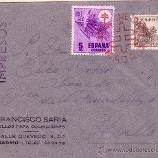 Sellos: CARTA DE MADRID A SEVILLA CON PRO-TUBERCULOSOS 1084. Lote 32202982