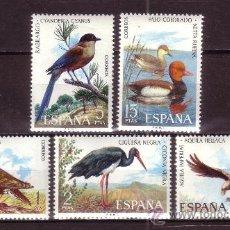 Sellos: ESPAÑA 2134/38** - AÑO 1973 - FAUNA HISPÁNICA - AVES. Lote 179338261