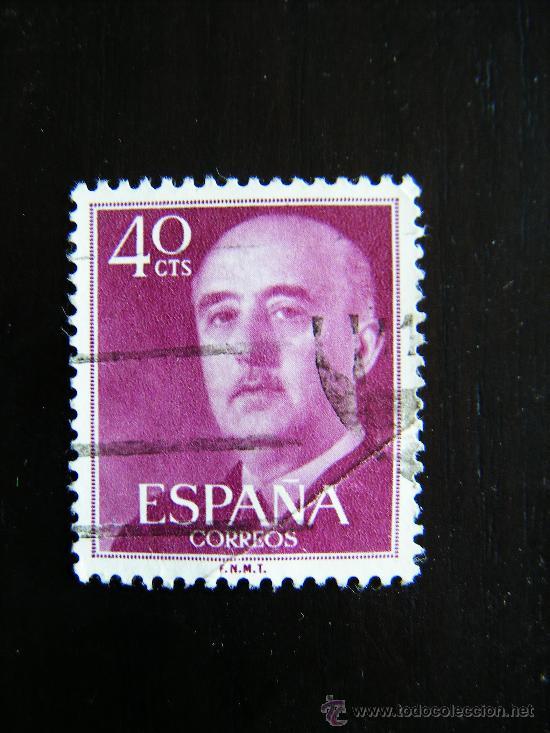 SELLO 40 CTS. FRANCO. F.N.M.T. ESPAÑA CORREOS. CIRCULADO. (Sellos - España - II Centenario De 1.950 a 1.975 - Usados)