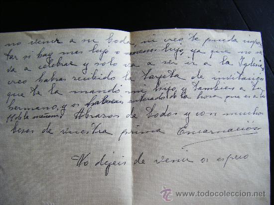 Sellos: CARTA CON SELLO 1 PESETA FRANCO CON MATASELLO LORCA, MURCIA. ENVIADA A CUEVAS DEL ALMANZORA. ALMERIA - Foto 6 - 32367206