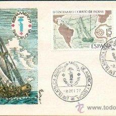 Sellos: BICENTENARIO CORREO DE INDIAS. ESPAMER 77 - SOBRE PRIMER DÍA. Lote 32519036