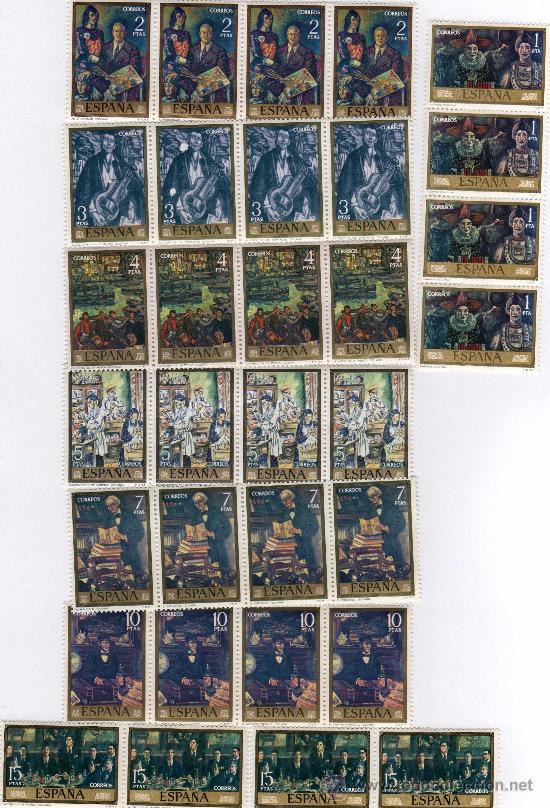 COMPLETA 8 VALORES, SELLOS DEL Nº 2077 AL Nº 2084 CATÁLOGO EDIFIL, 4 DE CADA, SOLANA, 1972 (Sellos - España - II Centenario De 1.950 a 1.975 - Nuevos)