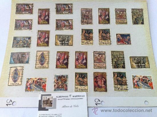 CIRCA 1960-80.- HOJA CON 29 SELLOS DE LA ÉPOCA. (Sellos - España - II Centenario De 1.950 a 1.975 - Usados)