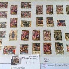 Sellos: CIRCA 1960-80.- HOJA CON 29 SELLOS DE LA ÉPOCA.. Lote 33360024