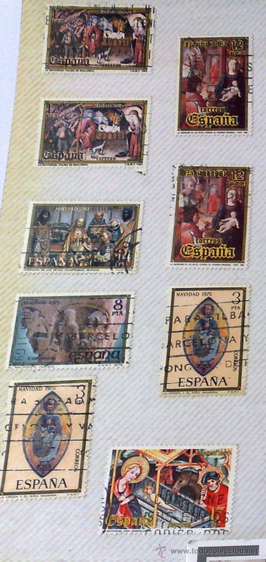 Sellos: CIRCA 1960-80.- HOJA CON 29 SELLOS DE LA ÉPOCA. - Foto 2 - 33360024