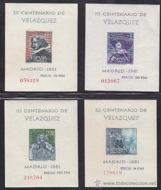 COLECCION DEL III CENTENARIO DE LA MUERTE DE VELASQUEZ ESPAÑA 1961, EDIFIL 1344 - 1347 (Sellos - España - II Centenario De 1.950 a 1.975 - Nuevos)