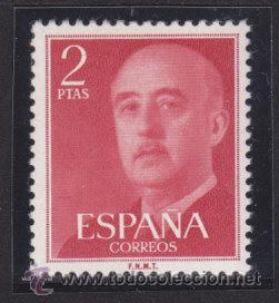 ESPAÑA 1955 - 1956 EDIFIL 1157 GENERAL FRANCO, NUEVO SIN FIJASELLOS (Sellos - España - II Centenario De 1.950 a 1.975 - Nuevos)