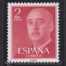 Sellos: ESPAÑA 1955 - 1956 EDIFIL 1157 GENERAL FRANCO, NUEVO SIN FIJASELLOS. Lote 98929650