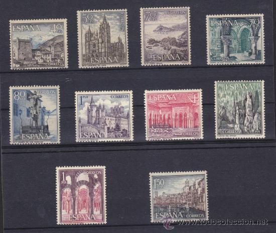 ESPAÑA 1964 - 1966, PAISAJES Y MONUMENTOS, SERIE TURISTICA, 2 SERIES COMPLETAS, NUEVOS ** (Sellos - España - II Centenario De 1.950 a 1.975 - Nuevos)