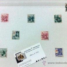 Sellos: CIRCA 1940-50 .- HOJA CON 11 SELLOS DE LA ÉPOCA.. Lote 34015765
