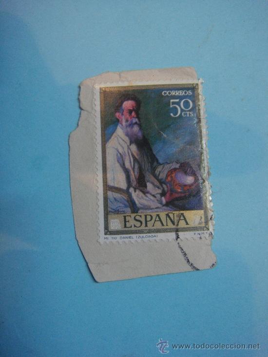 SELLO ESPAÑA. CORREOS. 50 CENTIMOS. MI TIO DANIEL (IZUOLOAGA) (Sellos - España - II Centenario De 1.950 a 1.975 - Usados)