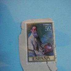 Sellos: SELLO ESPAÑA. CORREOS. 50 CENTIMOS. MI TIO DANIEL (IZUOLOAGA). Lote 34172682